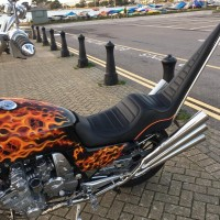 'Dead Reckoning' 1970's inspired, 6 cylinder CBX Chopper