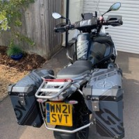 BMW R1250 Seat recover in Black and Grey
