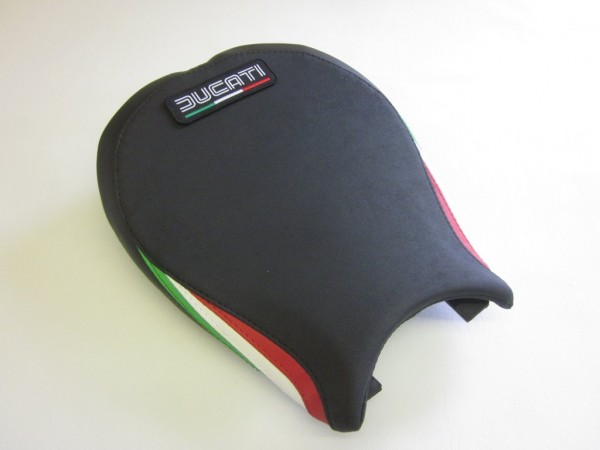 Ducati 848/1098/1198 Italian Flag colours-FRONT  With Logo Patch