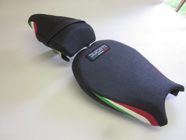 Ducati 848/1098/1198 Italian Flag colours -SET  With Logo Patch